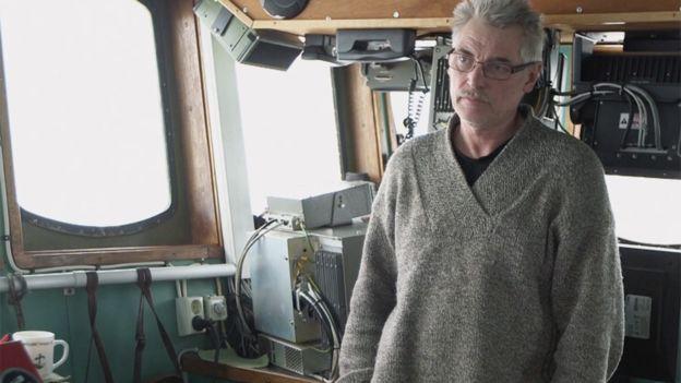 Kapitán Kvernmno na palubě své lodi